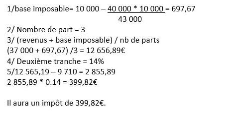 Exemple calcul rachat partiel